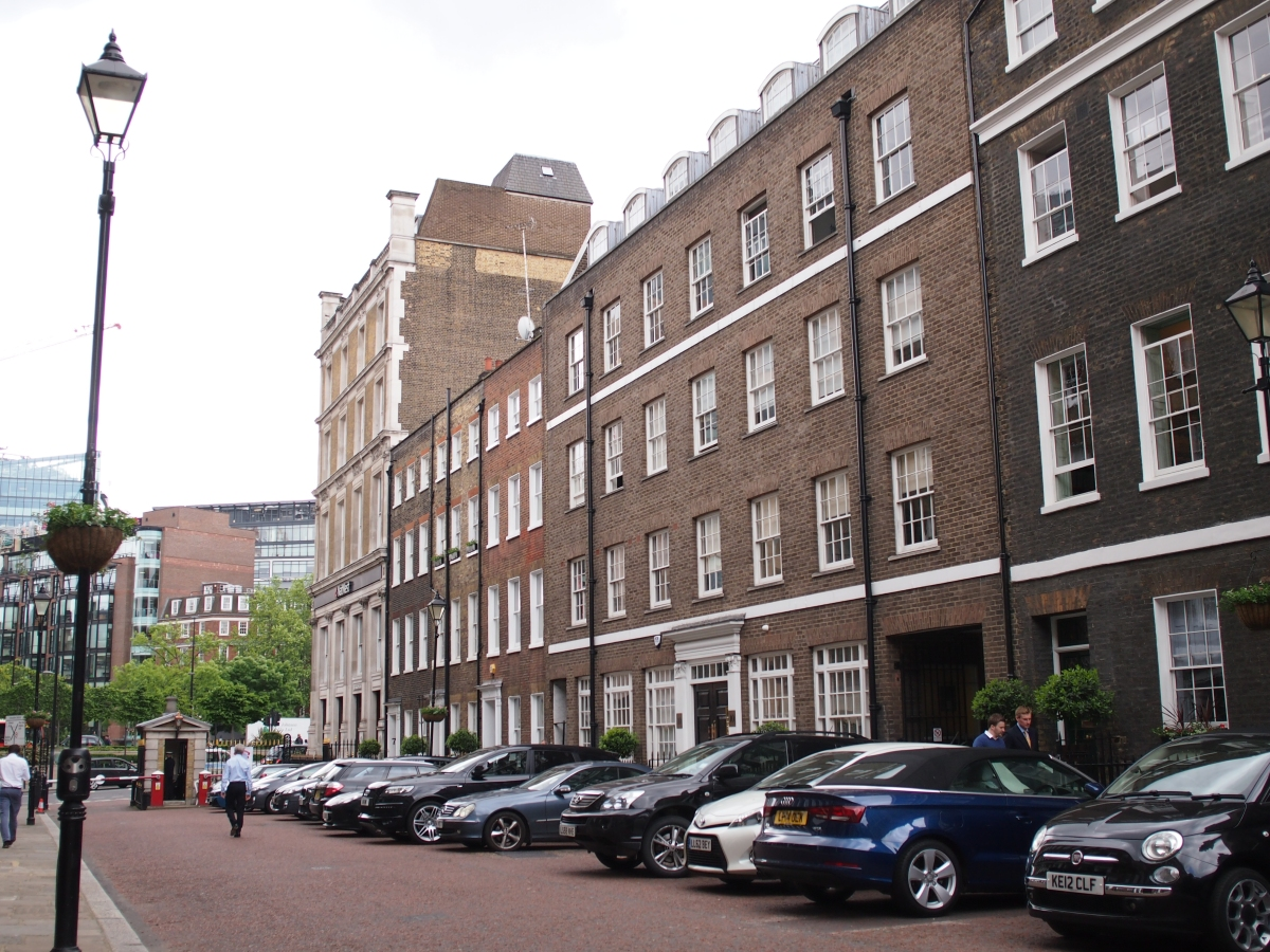 Ely Place: a street in central London that used to be part of Cambridgeshire