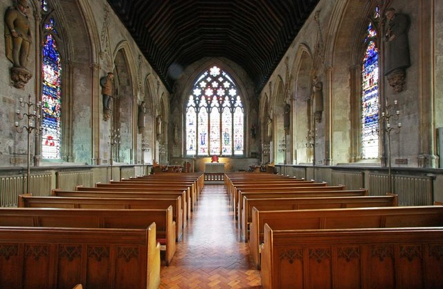 Inside the church (image by John Salmon on geograph.org.uk, reused under Creative Commons licencing)