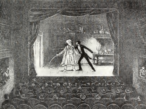 Étienne-Gaspard Robert's ghost illusion. 1905 illustration (image via Wikimedia Commons)