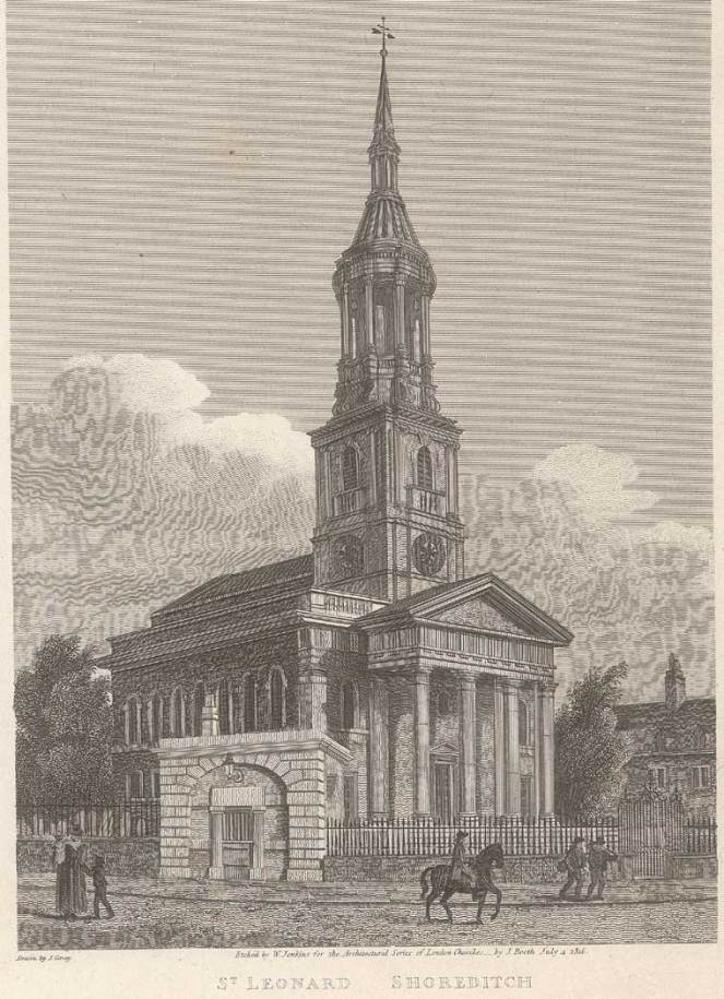 St Leonard's, Shoreditch (image via Wikimedia Commons)
