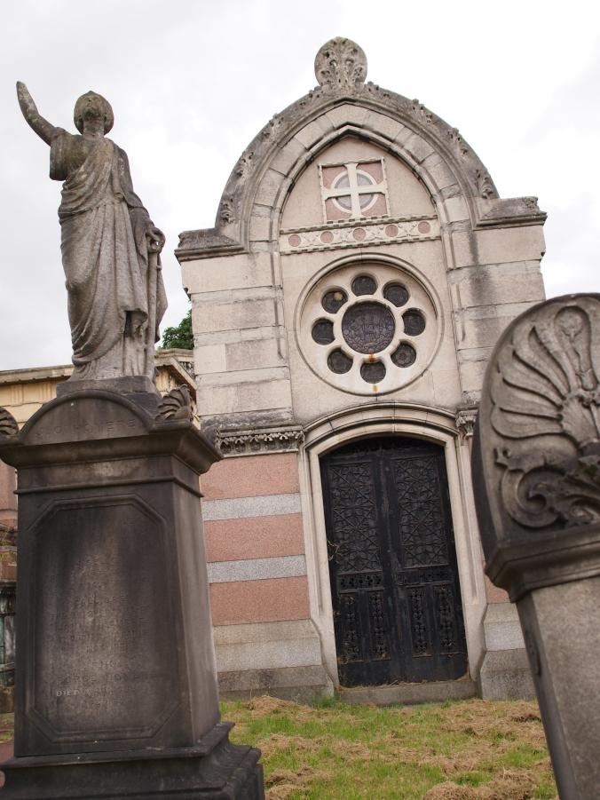 Imposing mausoleum of John Peter Ralli (d. 1863)