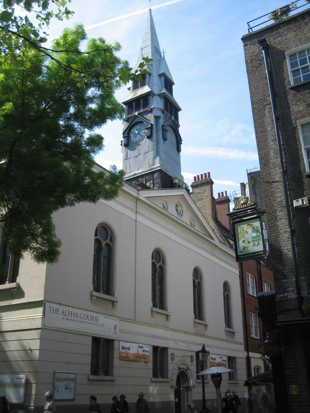 St George the Martyr, Holborn (image via Wikimedia Commons)